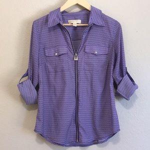 Michael Kors purple shirt